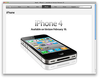 Apple - iPhone 4 - Available on Verizon February 10