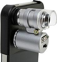 iPhone4用LED付マイクロスコープ