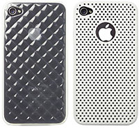 TPU ソフトケース for iPhone 4/メッシュ カラーシェルケース for iPhone 4