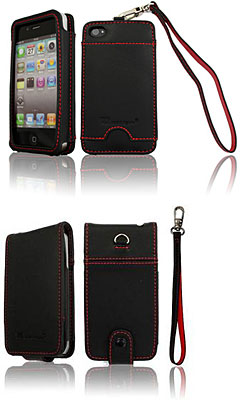 Leather Open Case for iPhone4/Leather Flip Case for iPhone4