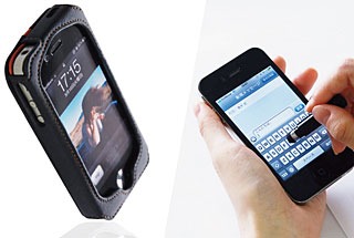 Deff Leather Case for iPhone4/TOUCH PEN STRAP