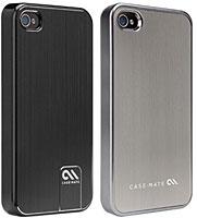 case-mate ベアリーゼア薄型ハードケース ブラッシュアルミニウム for iPhone 4