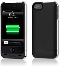Mophie Juice Pack Air バッテリーケース for iPhone 4(ブラック)