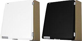 Airジャケットセット for iPad 2 ラバーホワイト・ラバーブラック