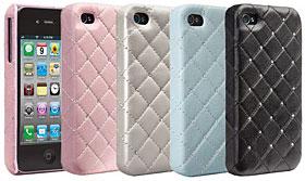 case-mate マディソン スワロフスキークリスタル付き本革ケース for iPhone 4