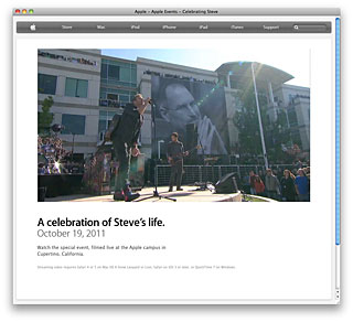 Apple - Apple Events - Celebrating Steve