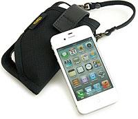 シリコンケースに入れたままでも入るちらっと見せたいiPhone 4S/4用キャリングケース
