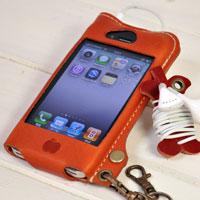 かじりりんご付き♪iPhone 4/4S ケース オイルレザーケース