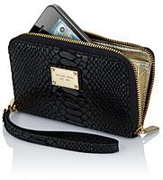 Michael Kors Essential Zip Wallet for iPhone(Black Python)