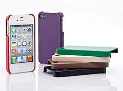Simplism Leather Cover Set for iPhone 4S