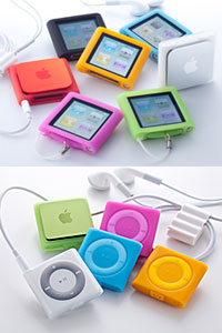 Simplism Silicone Case Set for iPod nano (6th)/iPod shuffle (4th)