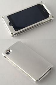 Smart Veil for iPhone 4 マテリアルシルバー