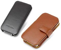 PDAIR レザーケース for iPhone 4S/4 縦開きタイプ ver.2と、PDAIR レザーケース for iPhone 4S/4 横開きタイプ(ボタンタイプ)(フローターパターン)