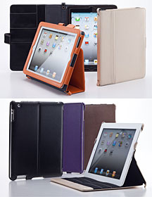 Simplism Leather Flip Note for iPad (3rd)/Smart Leather Shell for iPad (3rd)