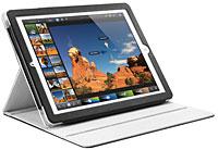 SPIGEN SGP The new iPad (第3世代)/iPad 2 レザーケース フォリオ (合成)