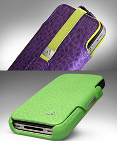Vaja Feather Pouch for iPhone 4/4SとAgenda for iPhone 4/4S
