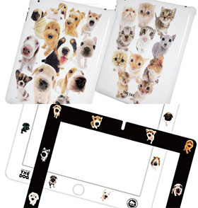 THE CAT & THE DOG iPad & iPad(3rd) Case・THE DOG Protector Film
