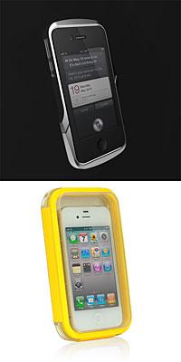 Case Logic Metal Bumper for iPhone 4/4SとAqualife-Waterproof Case