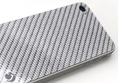 Deff SILVER CARBON PLATE for iPhone4/4S