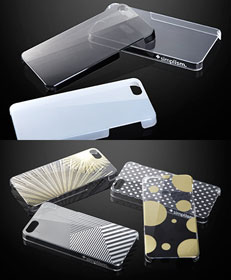 Simplism FlashRevive Cover Set for iPhone 5/Floating Pattern Cover Set for iPhone 5