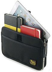 iPad miniとモレスキン、A5ノート、メモなどが同時に入る iPad mini用薄型キャリングケース