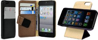 スペックコンピュータのiPhone 5用レザーケース「Leather Pocket」「Leather Book」「Leather Flip 360°」