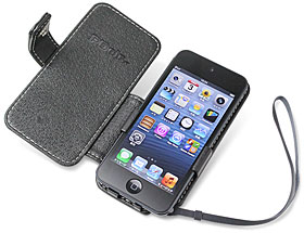 PDAIR レザーケース for iPod touch(5th gen.) 横開きタイプ