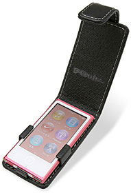 PDAIR レザーケース for iPod nano(7th gen.) 縦開きタイプ