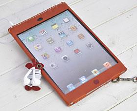 かじりりんご付き♪iPad miniオイルレザーケース