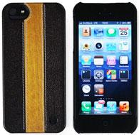 TREXTA ウッド&本革張りハードケース for iPhone 5(チェリーウッド)