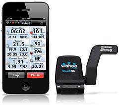 Wahoo Fitness Blue SC Cycling Speed/Cadence Sensor for iPhone & iPod & iPad