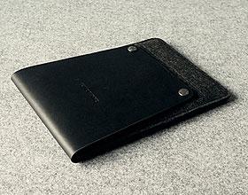 Charbonize レザー & フェルト ケース for iPad mini(ブラック)(スリーブタイプ)