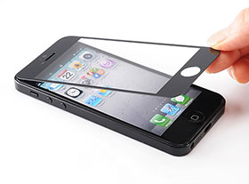 iPhone 5用液晶保護強化ガラスフィルム(画面保護シート) EEA-YW0909シリーズ