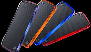 CLEAVE CRYSTAL BUMPER for iPhone 5 METALIC & CARBON EDITION