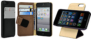 Leather Pocket/Book/Flip 360° for iPhone 5