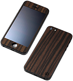 Deff WOODEN PLATE for iPhone 5 黒檀