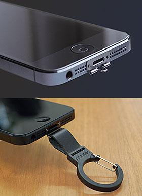 Poddities NETSUKE/レザーカラビナストラップ for iPhone 5