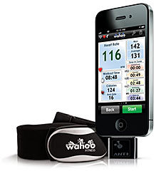 Wahoo Fitness Run/Gym Pack for iPhone(ANT+ アダプタ/心拍計セット)