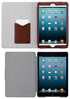 SoftBank SELECTION ブックスタイルケース レザータッチ/スタイリッシュスリムケース for iPad mini