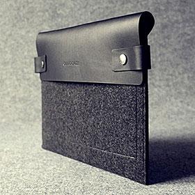 Charbonize レザー & フェルト ケース for iPad(第4世代)/iPad(第3世代)/iPad 2(ブラック)