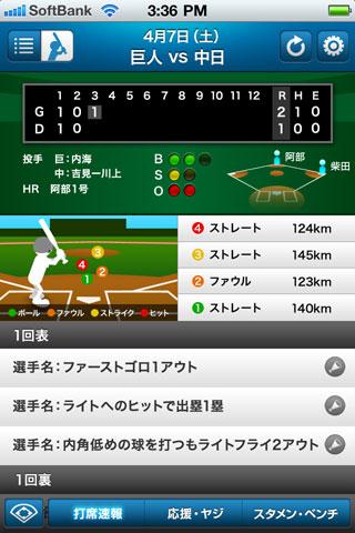 プロ野球 打席速報