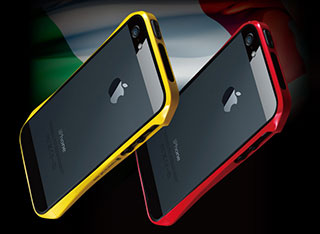 CLEAVE ALUMINUM BUMPER AERO for iPhone 5 European Yellow/European Red