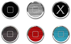 PATCHWORKS Alloy X Home Button Set for iPhone/iPad