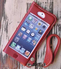 JACA JACA iPhone 5オイルレザーケース レッド