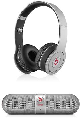 Beats Wireless オンーイヤーヘッドフォン/Beats by Dr. Dre Pill Speaker シルバー