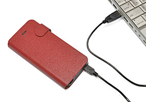 JTT Leather Case Battery for iPhone 5