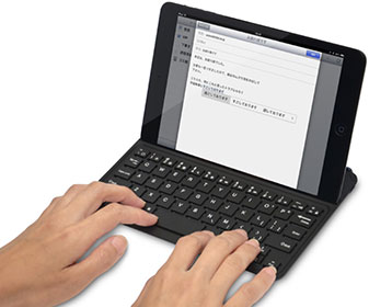 iPad mini用 光るワイヤレスキーボード Bookey Light IPMHBKYL