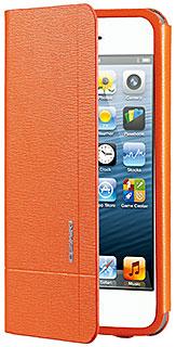 OZAKI O!coat Aim Folio Leather Case w/Card Pocket for iPhone 5