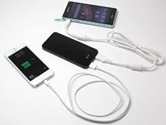 バリューウェーブ 外部バッテリー(3500mAh) for スマートフォン/タブレット(ブラック) MF-3500BK