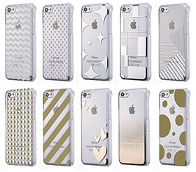 Simplism Floating Pattern Cover Set for iPhone 5c